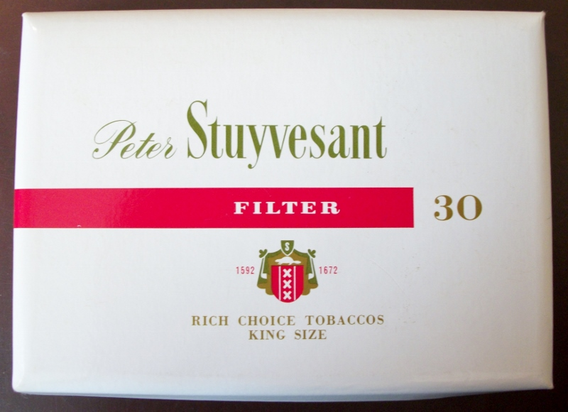 Peter Stuyvesant filter 30-pack king size - vintage South African Cigarette Pack