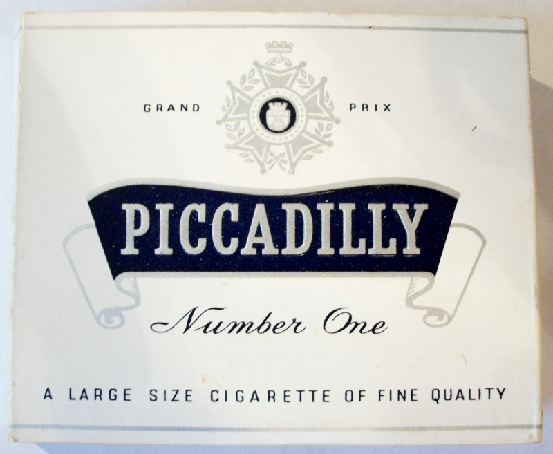 Piccadilly Number One Grand Prix - vintage British Cigarette Pack