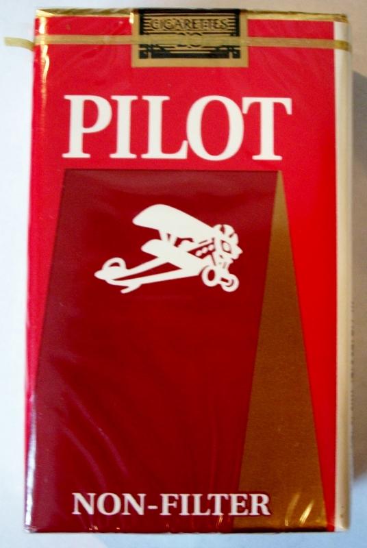 Pilot Non-Filter King Size - vintage American Cigarette Pack
