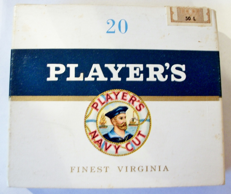 Player's Navy Cut 20-pack - vintage Austrian Cigarette Pack