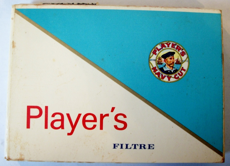 Player's Navy Cut Filter, 25-pack 70mm - vintage Canadian Cigarette Pack