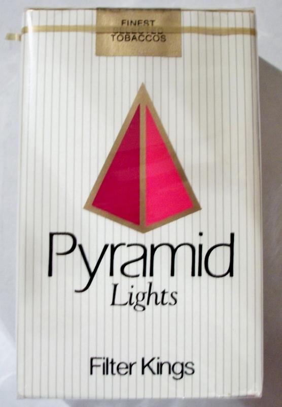 Pyramid Lights Filter Kings - vintage American Cigarette Pack