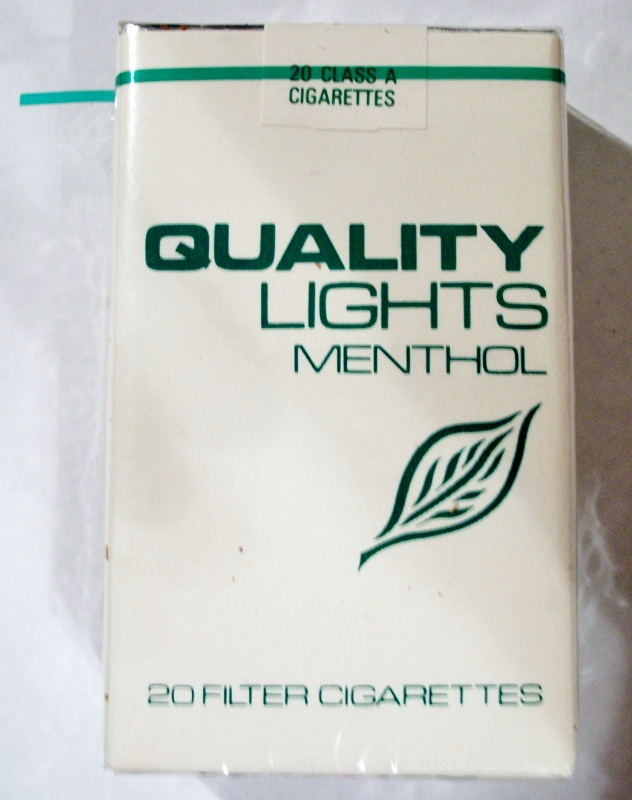 Quality Lights Menthol - vintage American Cigarette Pack