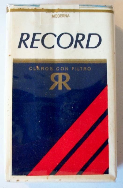 Record Claros con Filtro, Extra Largos - vintage Mexican Cigarette Pack
