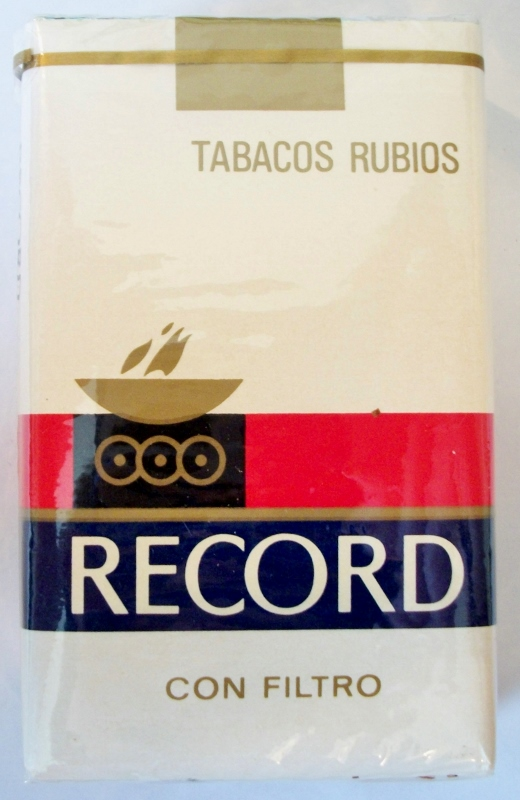 Record Tabacos Rubios con Filtro, King Size - vintage Costa Rican Cigarette Pack
