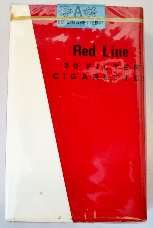 Red Line Filter, King Size - vintage Trademark Cigarette Pack