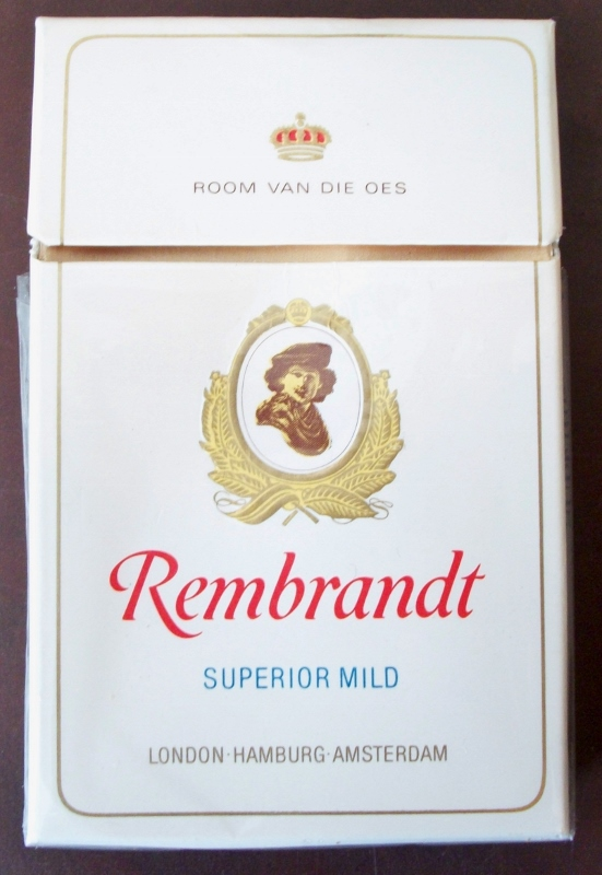 Rembrandt Superior Mild - vintage South African Cigarette Pack