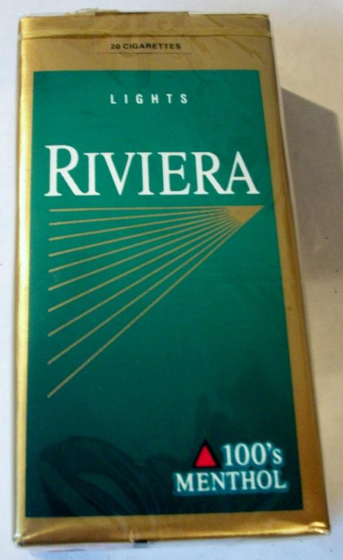 Riviera Lights 100's Menthol - vintage American Cigarette Pack