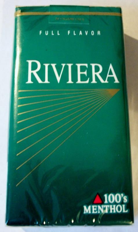 Riviera Full Flavor 100's Menthol - vintage American Cigarette Pack