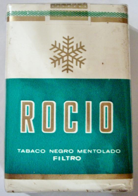 Rocio Tabaco Negro Mentolado Filtro - vintage Spanish Cigarette Pack