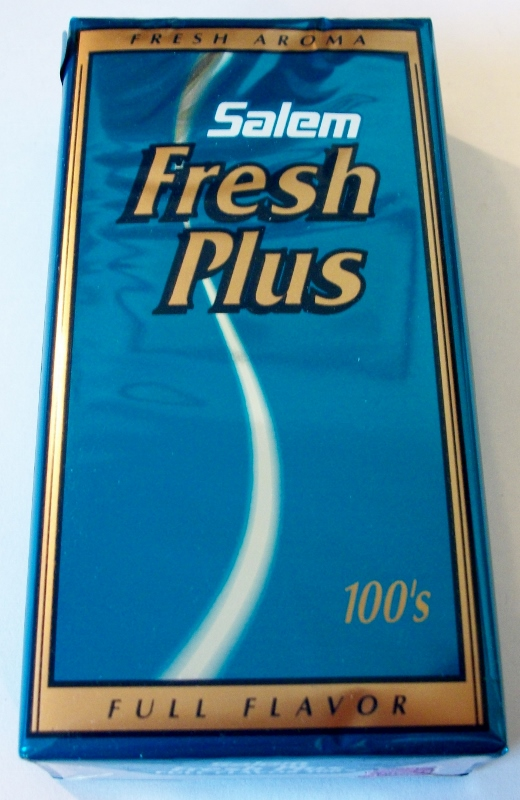 Salem Fresh Plus 100's Full Flavor - vintage American Cigarette Pack