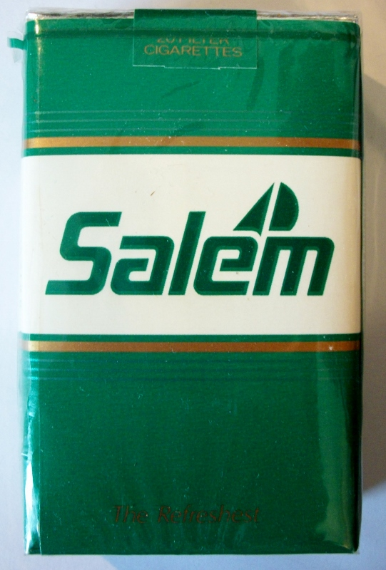 Salem Menthol, The Refreshest, King Size - vintage American Cigarette Pack