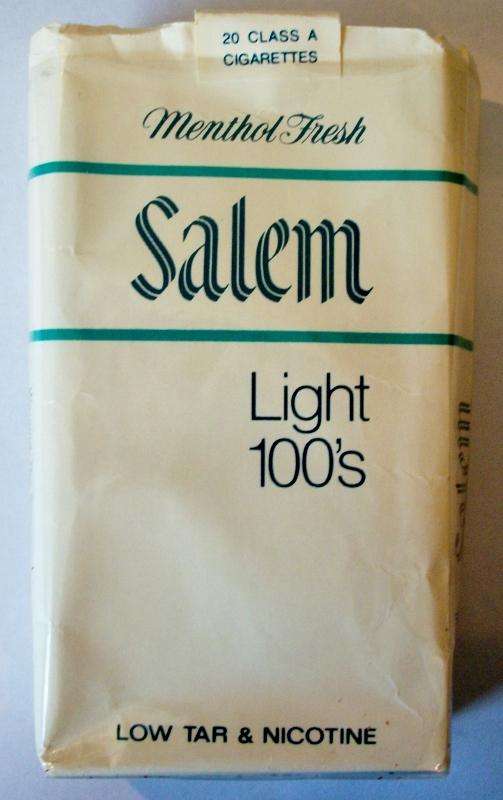 Salem Light 100's Menthol Fresh - vintage American Cigarette Pack