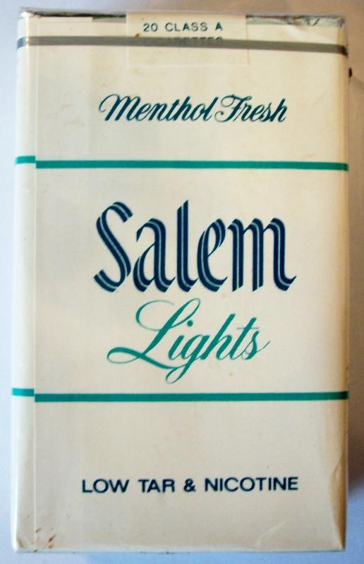 Salem Lights Menthol Fresh, King Size - vintage American Cigarette Pack