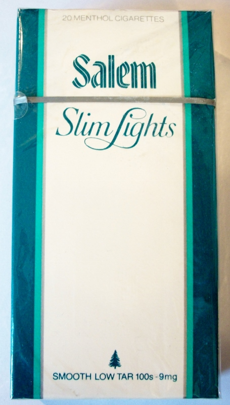 Salem Slim Lights 100's - vintage American Cigarette Pack
