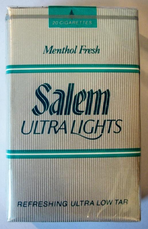 Salem Ultra Lights Menthol Fresh king size - vintage American Cigarette Pack