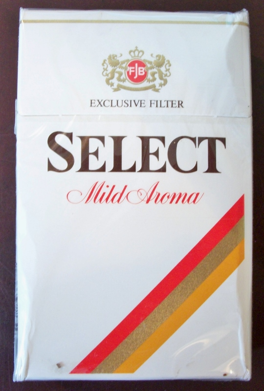 Select Mild Aroma, King Size - vintage Swiss Cigarette Pack