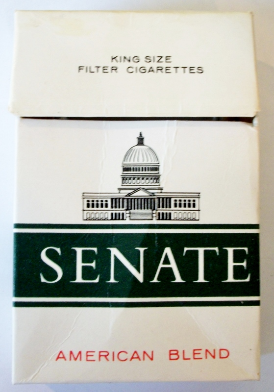 Senate American Blend, King Size Filter - vintage Kenyan Cigarette Pack