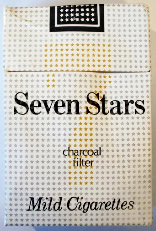 Seven Stars, Charcoal Filter - vintage Japanese Cigarette Pack