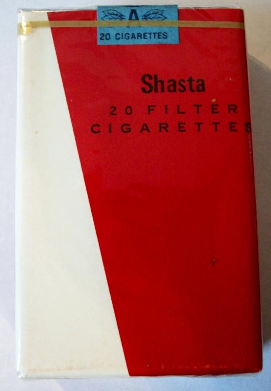 Shasta, filter king size - vintage Trademark Cigarette Pack