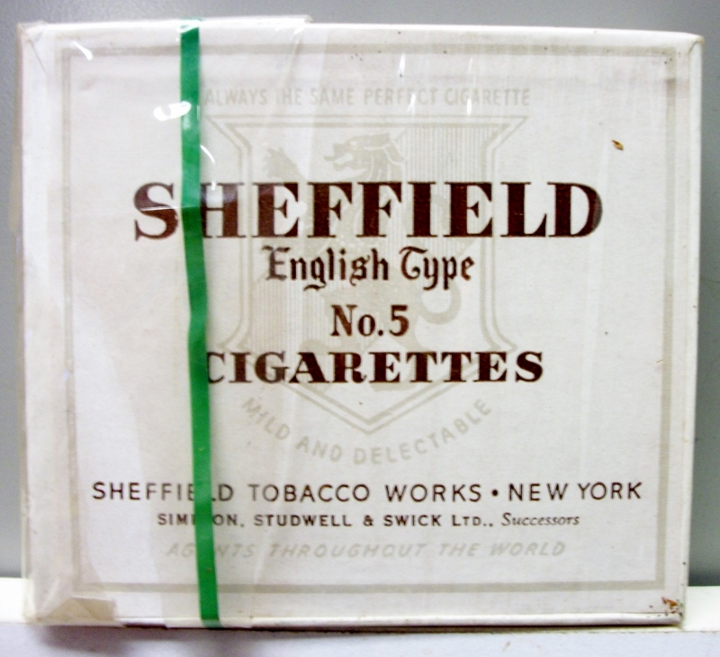 Sheffield, English Type No. 5 1941 - vintage American Cigarette Pack
