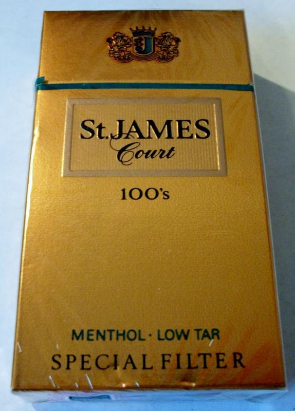 St. James Court 100's Menthol Special Filter - vintage American Cigarette Pack