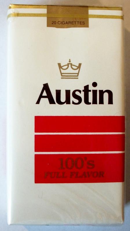 Austin Full Flavor 100's - vintage American Cigarette Pack