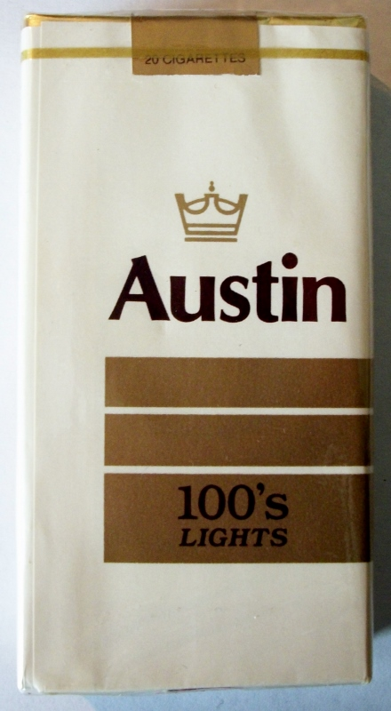 Austin Lights 100's - vintage American Cigarette Pack
