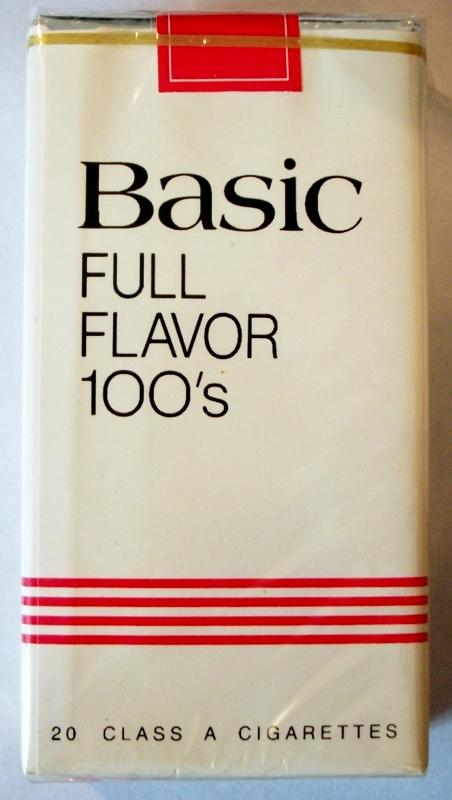 Basic Full Flavor 100's - vintage American Cigarette Pack
