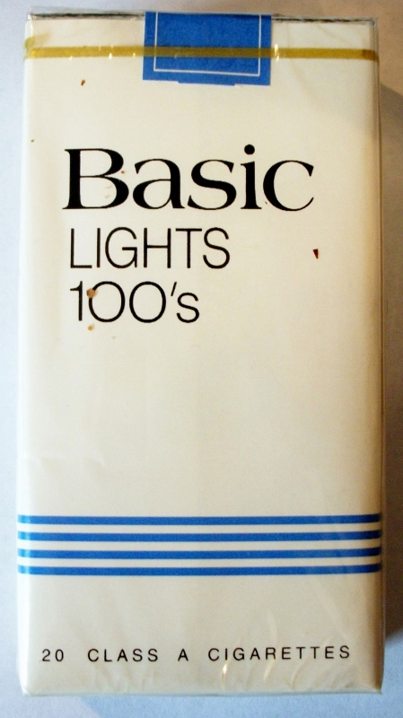 Basic Lights 100's - vintage American Cigarette Pack (version 1)