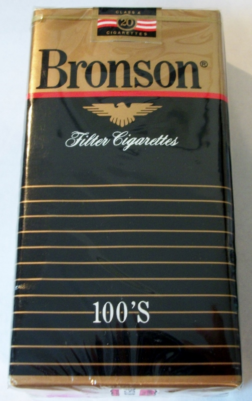 Bronson Filter 100's - vintage American Cigarette Pack (Maryland stamp)