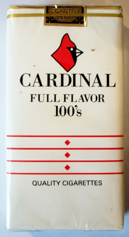 Cardinal Full Flavor 100's - vintage American Cigarette Pack