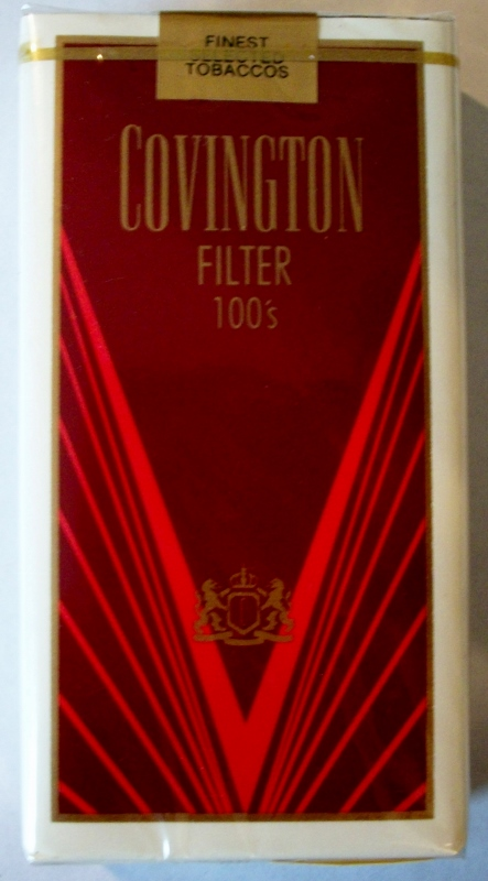 Covington Filter 100's - vintage American Cigarette Pack