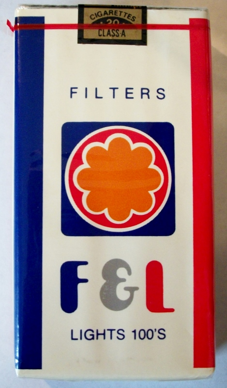 F & L Filters Lights 100's - vintage American Cigarette Pack