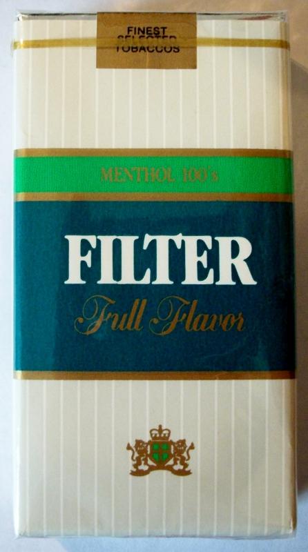 Liggett Filter Full Flavor Menthol 100's - vintage American Cigarette Pack