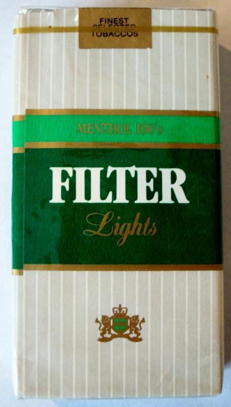 Liggett Filter Lights Menthol 100's - vintage American Cigarette Pack