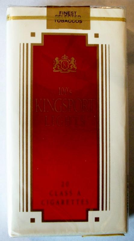 Kingsport Lights 100's - vintage American Cigarette Pack