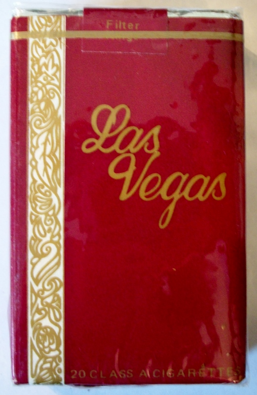 Las Vegas, Filter King Size - vintage American Cigarette Pack