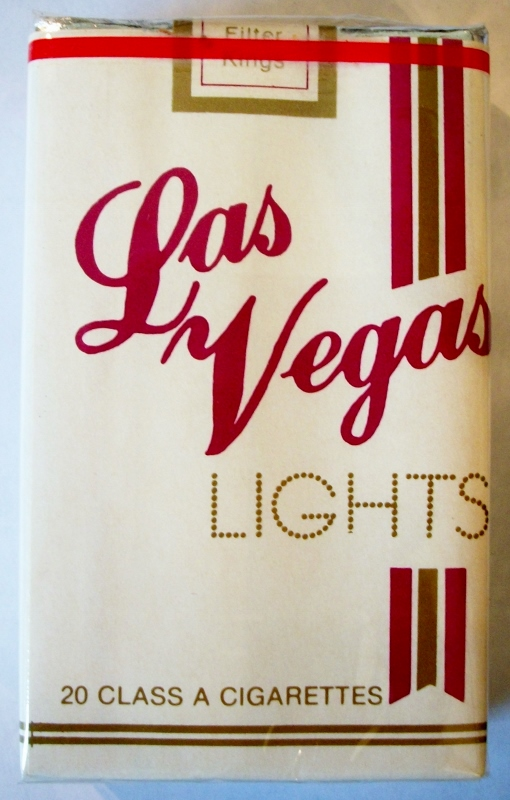 Las Vegas Lights, Filter King Size - vintage American Cigarette Pack