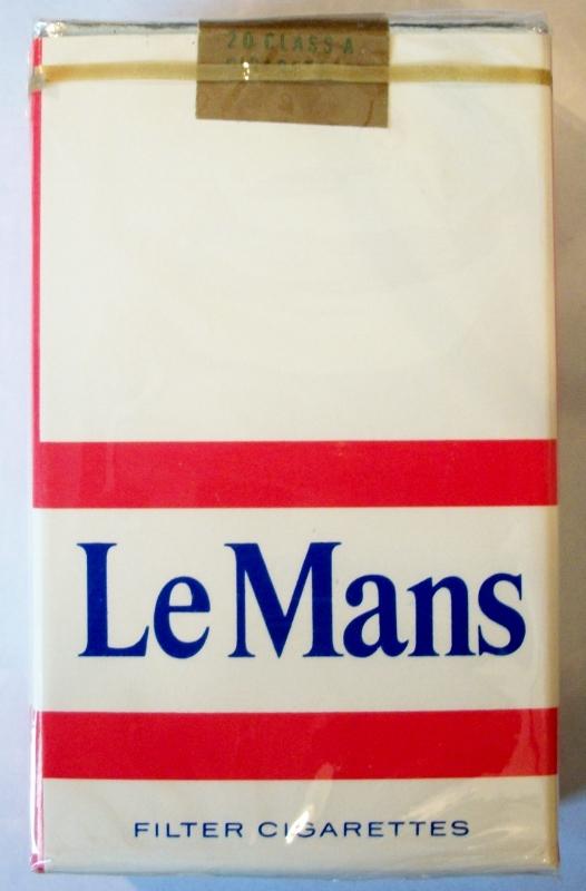 Le Mans Filter, King Size - vintage American Cigarette Pack