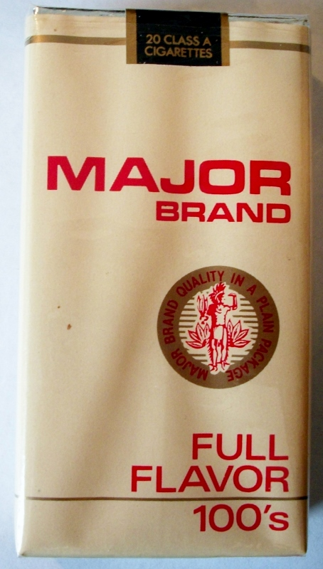 Major Brand Full Flavor 100's - vintage American Cigarette Pack