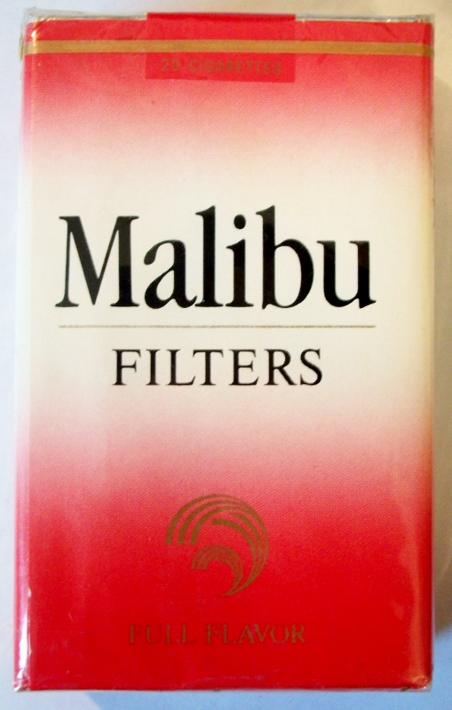 Malibu Filters Full Flavor, King Size box - vintage American Cigarette Pack