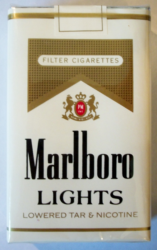 Marlboro Lights Filter, King Size - vintage American Cigarette Pack