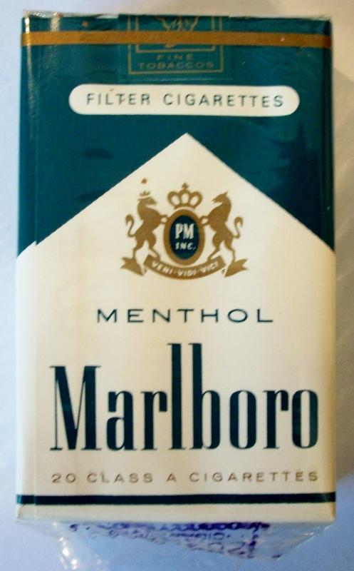 Marlboro Menthol Filter - vintage American Cigarette Pack (CA stamp)