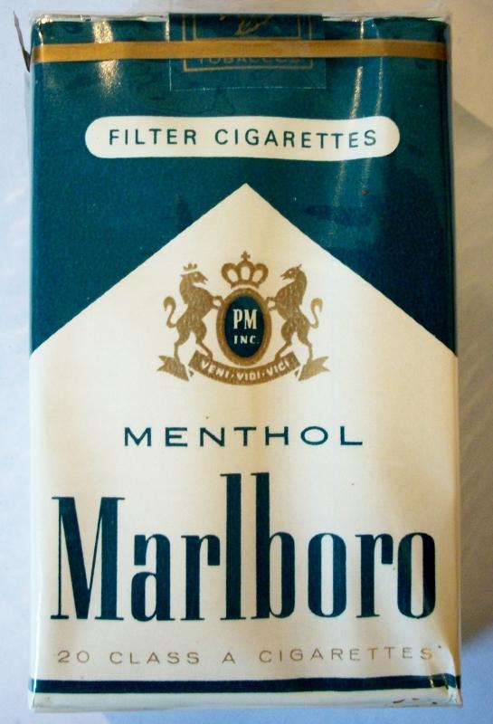 Marlboro Menthol Filter - vintage American Cigarette Pack (MD stamp)