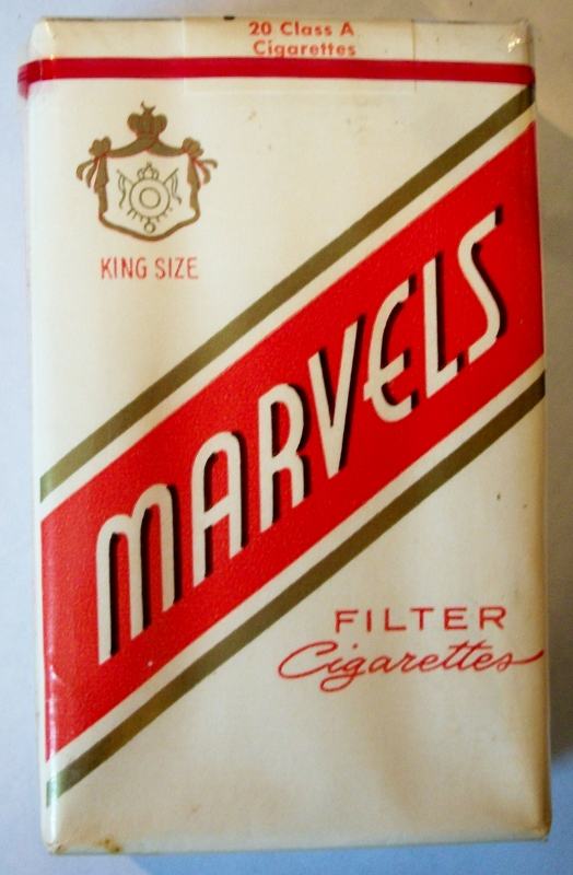 Marvels Filter, King Size - vintage American Cigarette Pack