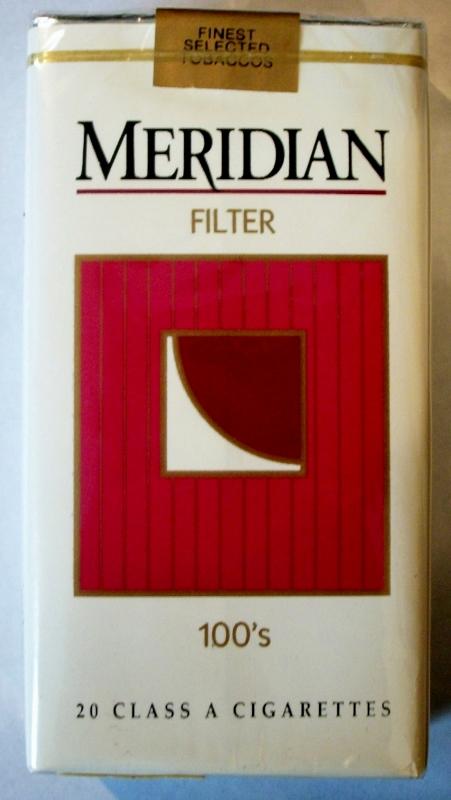 Meridian Filter 100's - vintage American Cigarette Pack