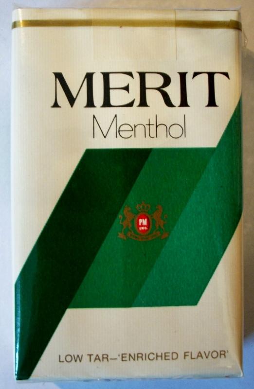 Merit Menthol, King Size - vintage American Cigarette Pack