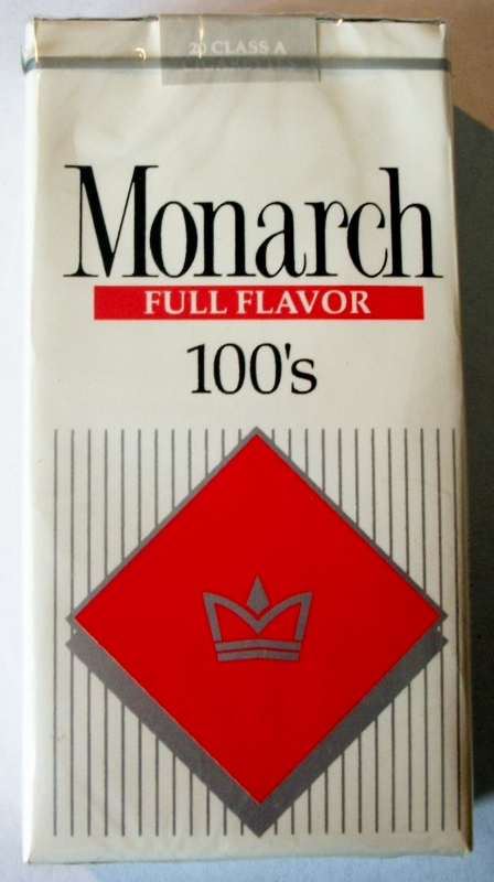 Monarch Full Flavor 100's - vintage American Cigarette Pack