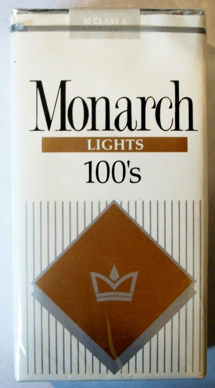 Monarch Lights 100's - vintage American Cigarette Pack